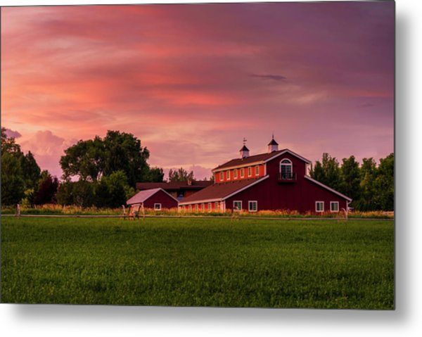 Metal Print featuring the photograph The Red Barn by TL Mair