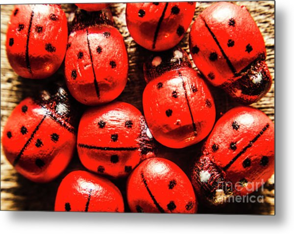 The Red Bug Out  Metal Print
