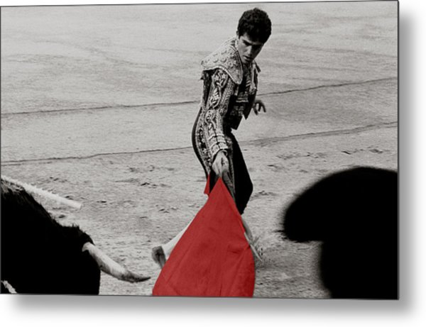 The Red Cape Metal Print
