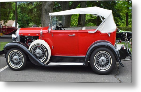 The Red Convertible Metal Print