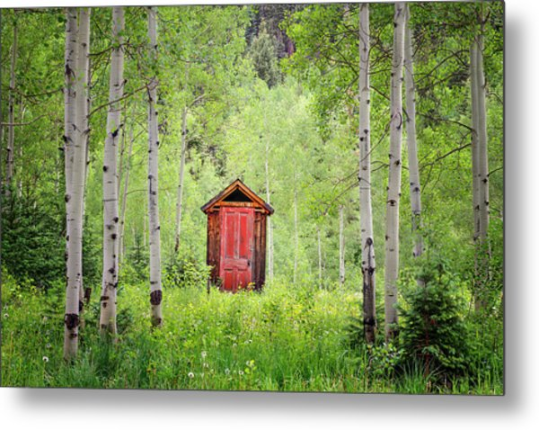 The Red Door  Metal Print