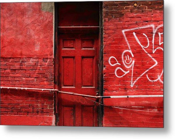 The Red Door Bar Metal Print