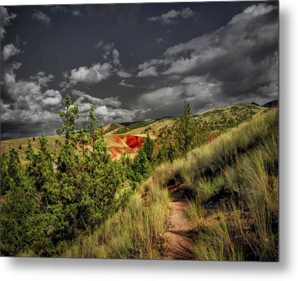 The Red Hill Metal Print