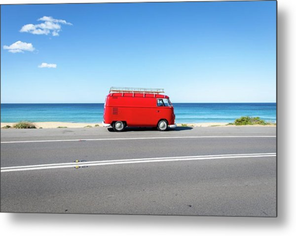 The Red Kombi Metal Print