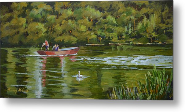 The Red Punt Metal Print