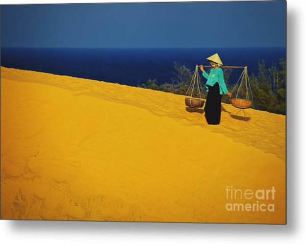 The Red San Dunes Of Mui Ne Vietnam Metal Print