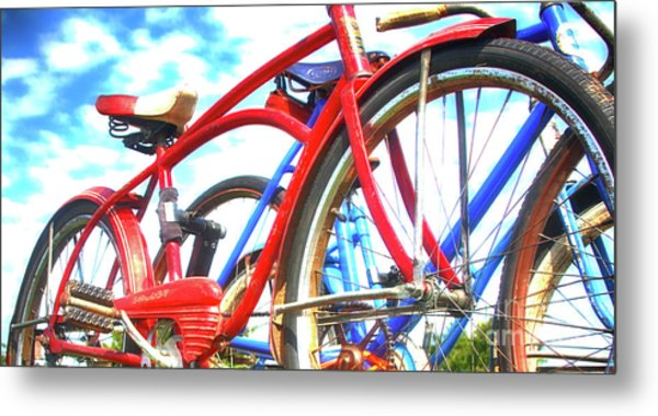 The Red Shelby  Metal Print by Steven Digman