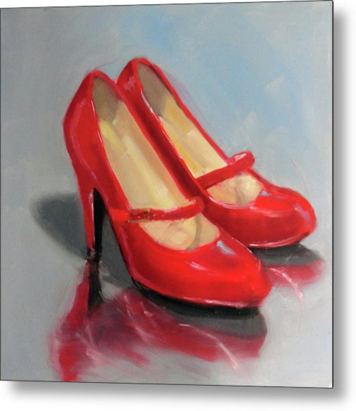 The Red Shoes Metal Print