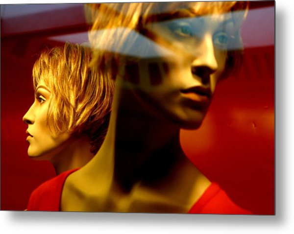 The Red Twins Metal Print by Jez C Self