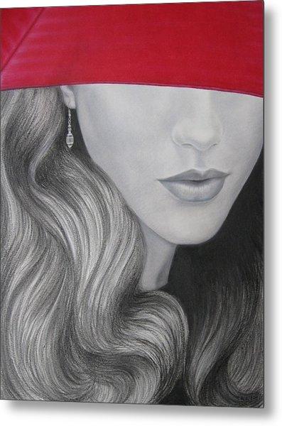 The Red Umbrella Metal Print