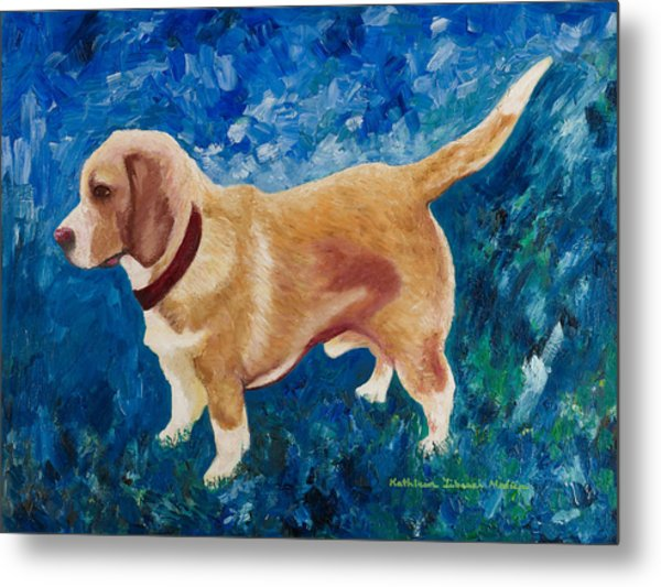 The Regal Beagle Metal Print
