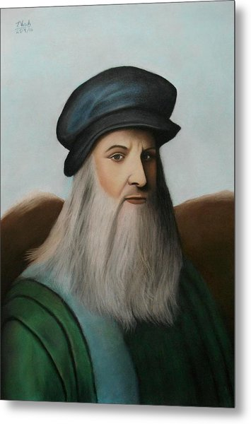 The Master Of Renaissance - Leonardo Da Vinci  Metal Print
