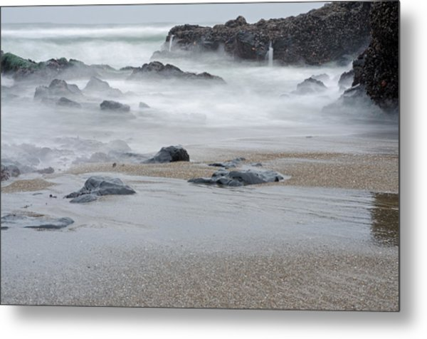 Metal Print featuring the photograph The Revealed Shoreline by Margaret Pitcher