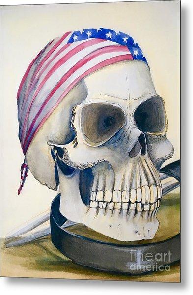 The Rider's Skull Metal Print