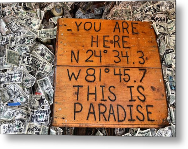 The Right Coordinates Metal Print by JAMART Photography