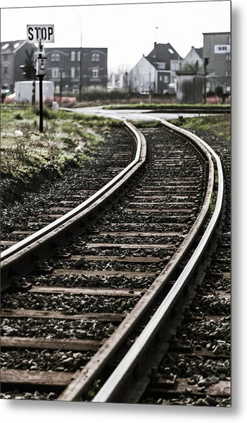 The Right Track? Metal Print