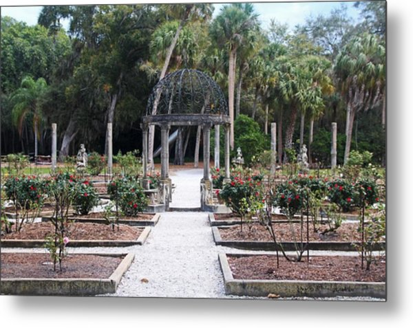 The Ringling Rose Garden Metal Print