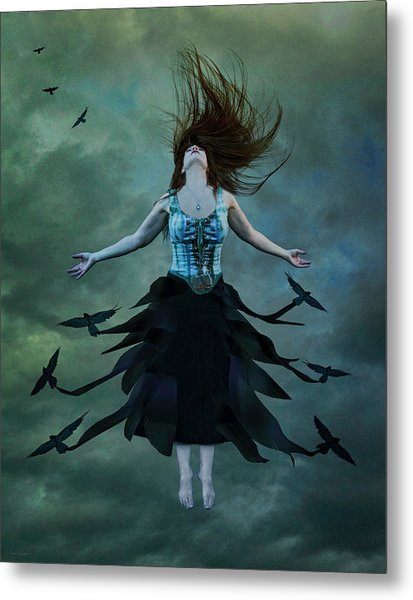 The Rising Metal Print