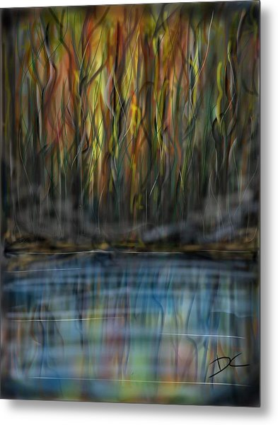 The River Side Metal Print