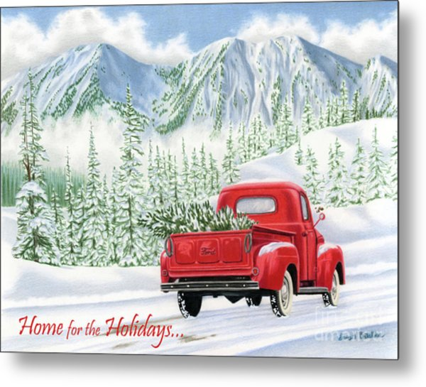 The Road Home- Home For The Holidays Cards Metal Print