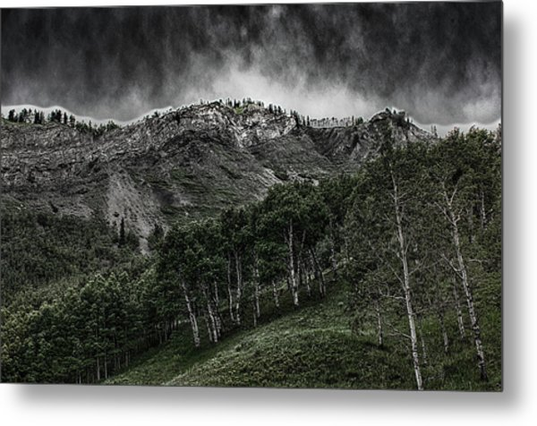 The Road To Blue Rock Metal Print