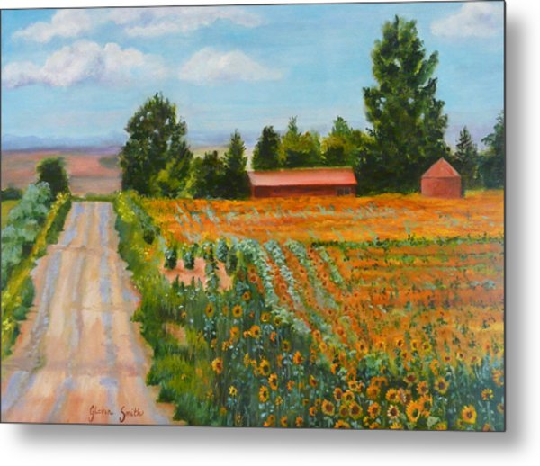 The Road To Happiness Metal Print by Gloria Smith