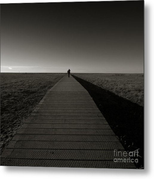 The Road To Nowhere Metal Print by Angel Ciesniarska