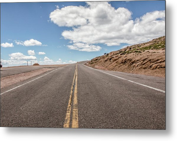 The Road Up Pikes Peak At Around 12,000 Feet Metal Print