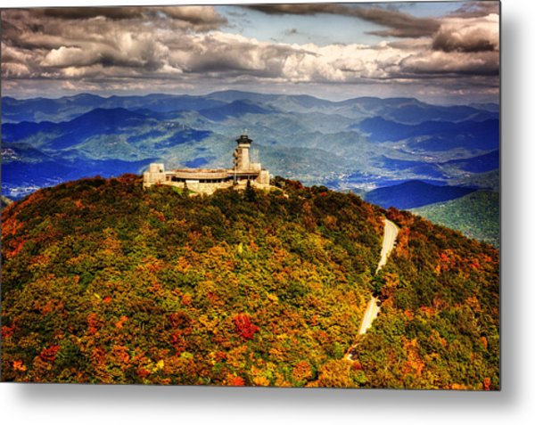 The Road Up To Brasstown Bald Metal Print