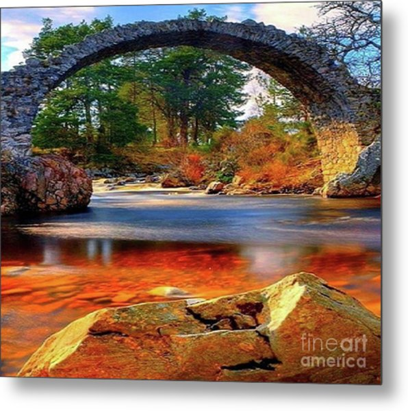 The Rock Bridge Metal Print