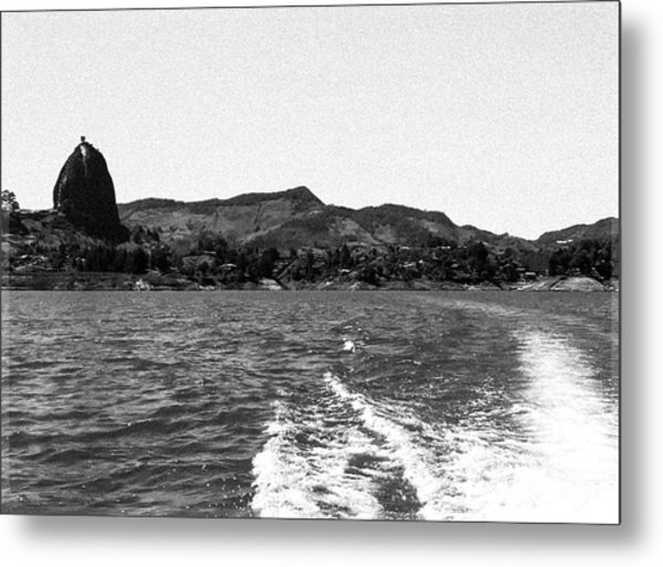 The Rock Of Guatape Metal Print