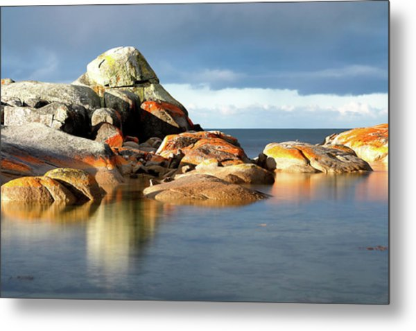 Metal Print featuring the photograph The Rocks And The Water by Nicholas Blackwell