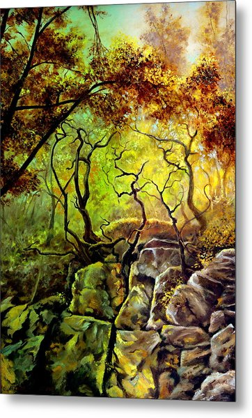 The Rocks In Starachowice Metal Print