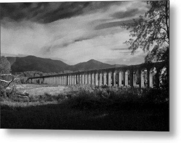 The Roman Aqueducts Metal Print