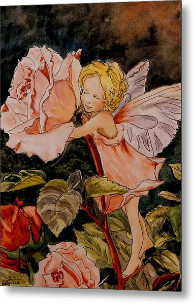 The Rose Fairy After Cicely Mary Barker Metal Print