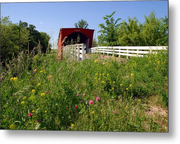 The Roseman Bridge In Madison County Iowa Metal Print