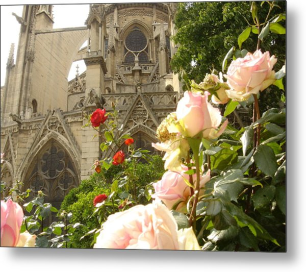 The Roses Of Notre Dame Metal Print by John Julio