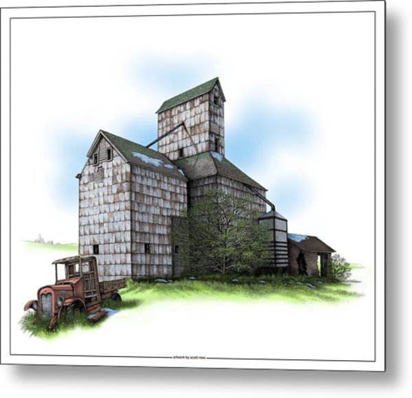 The Ross Elevator Spring Metal Print