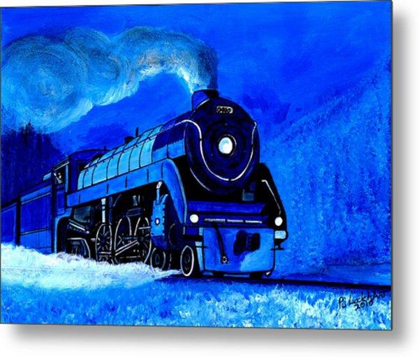 The Royal Blue Express Metal Print