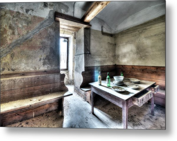 The Rural Kitchen - La Cucina Rustica  Metal Print