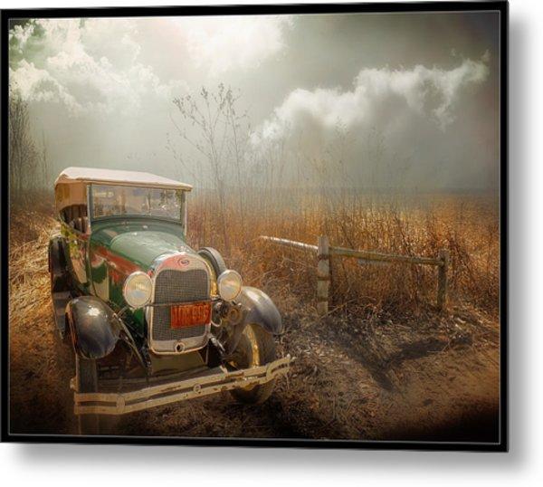 The Rural Route Metal Print