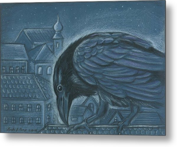The Russian Raven Metal Print