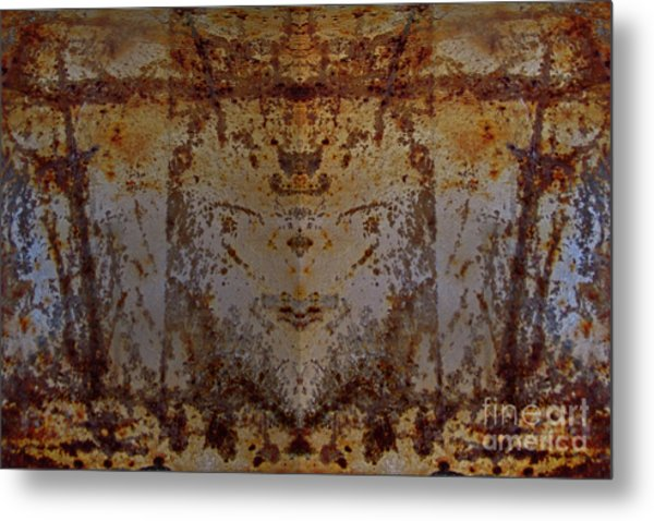 The Rusted Feline Metal Print