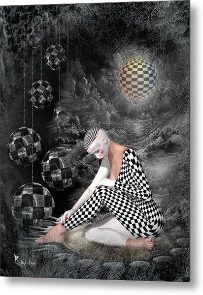 The Sad Pierrot Metal Print