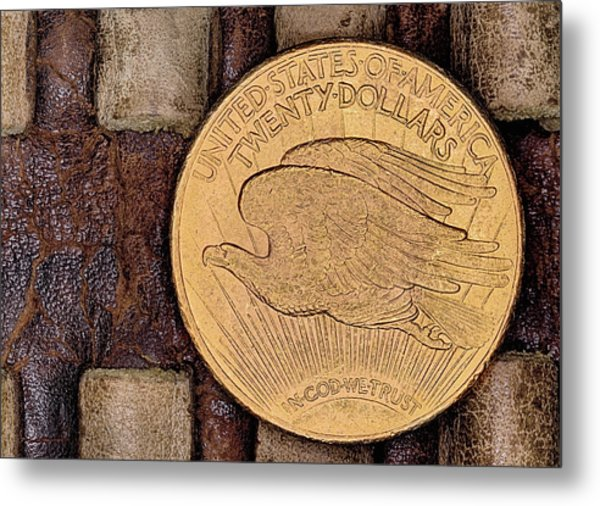 The Saint Gaudens Gold Double Eagle Metal Print by JC Findley
