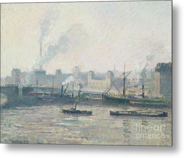 The Saint Sever Bridge, Rouen Mist, 1896  Metal Print