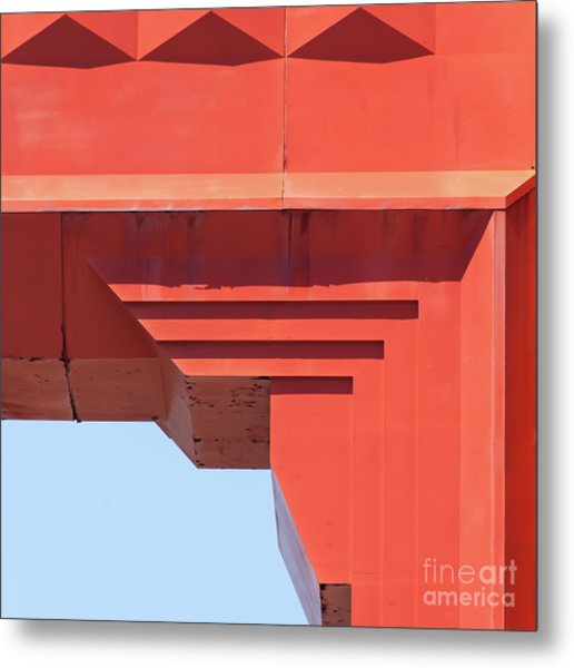 The San Francisco Golden Gate Bridge 5d2990sq Metal Print