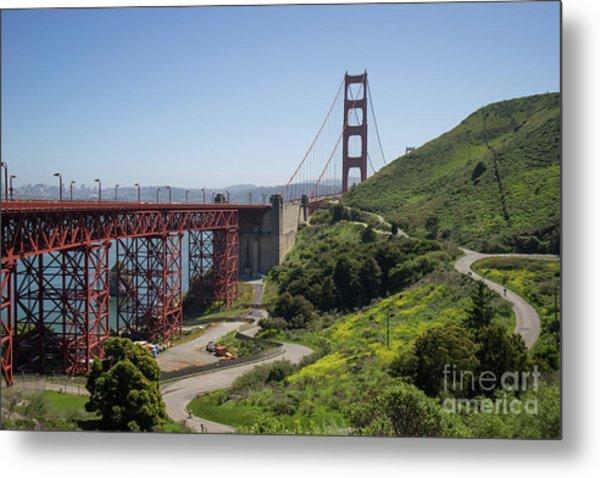The San Francisco Golden Gate Bridge Dsc6139 Metal Print
