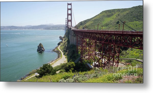 The San Francisco Golden Gate Bridge Dsc6146long Metal Print