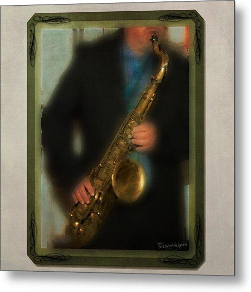 The Sax Player Metal Print